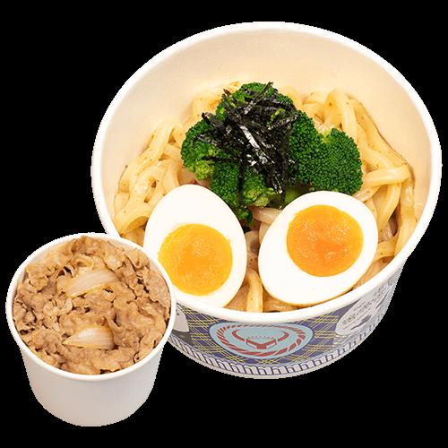 胡麻烏龍冷麵+小牛/豚丼