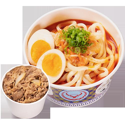 韓泡烏龍麵+小牛/豚丼