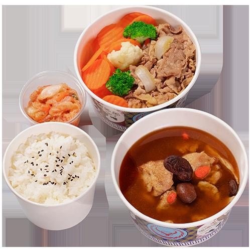 養生麻油猴頭菇牛/豚/雞定食