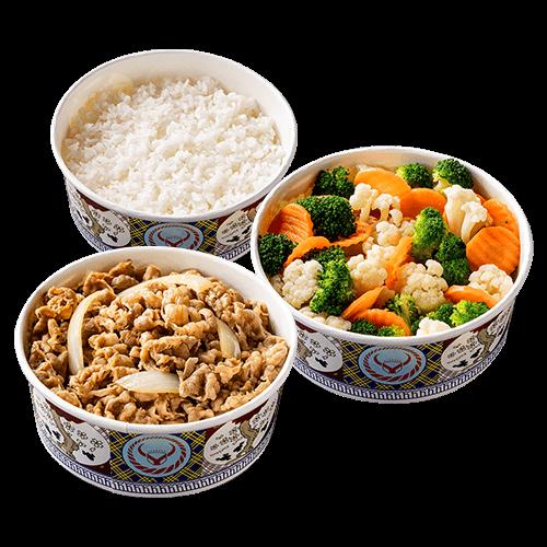 鮮蔬牛/豚丼3-4人餐