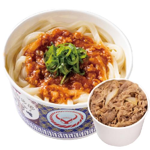 番茄蘑菇烏龍麵+小牛/豚丼